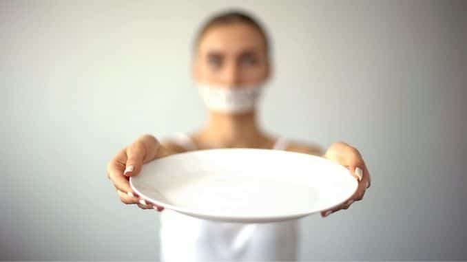 showing empty plate